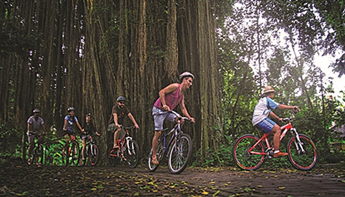 Bali Tubing dan Cycling Ubud Camp Full Day