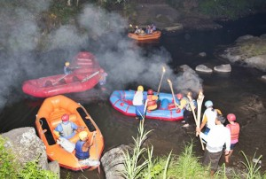 Bali Night Rafting Start