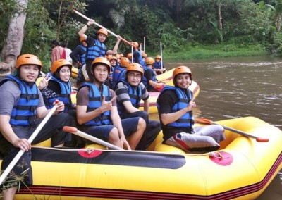 Bali Amazing Race Ubud Camp Full Day – Cycling & Rafting 06B